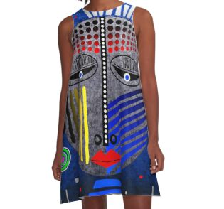 'Tribal Whimsy 12' A-Line Dress products by renowned vagabond fine art travel photographer, Glen Allison