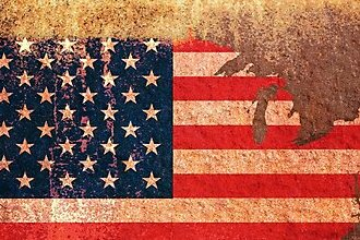 HD Decor Images » USA Flag Map  Photographic Prints by Michael Tompsett   Redbubble USA Flag Map by Michael Tompsett