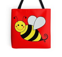 Bumble Bee Graphic Tote Bags. Big yellow and black bumble bee graphic illustration.