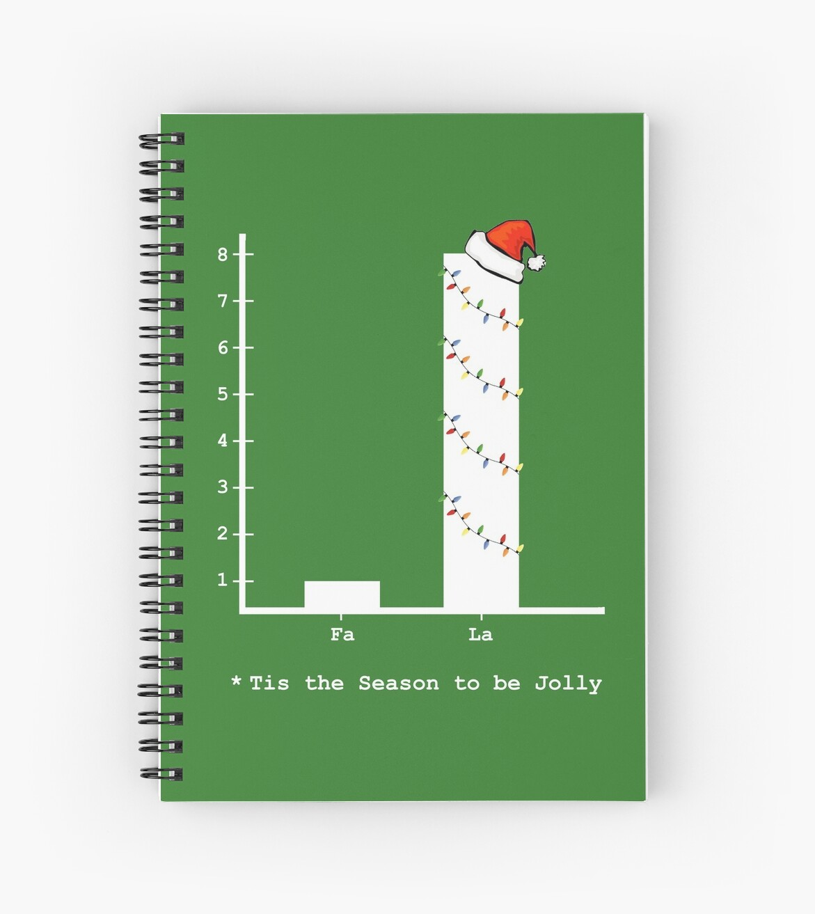 Christmas Carol Math Bar Graph Spiral Notebook By