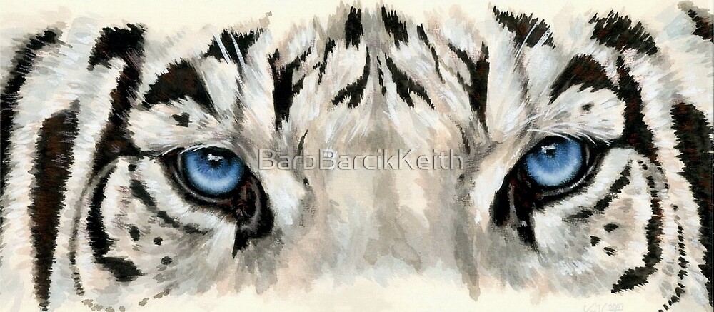 """""""Eye-Catching Royal White Tiger"""" By BarbBarcikKeith"""