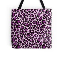 Purple Leopard Print Tote Bag. Chic and Girly Purple and pink leopard print spots. Animal print design.