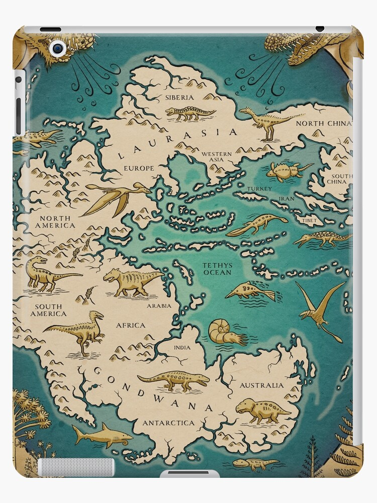 Map Of The Supercontinent Pangaea Ipad Cases Amp Skins By