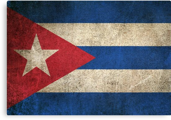 Old And Worn Distressed Vintage Flag Of Cuba Canvas