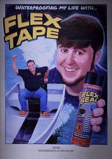 Jontron Flex Tape Movie Poster Poster By Bencova14 Redbubble