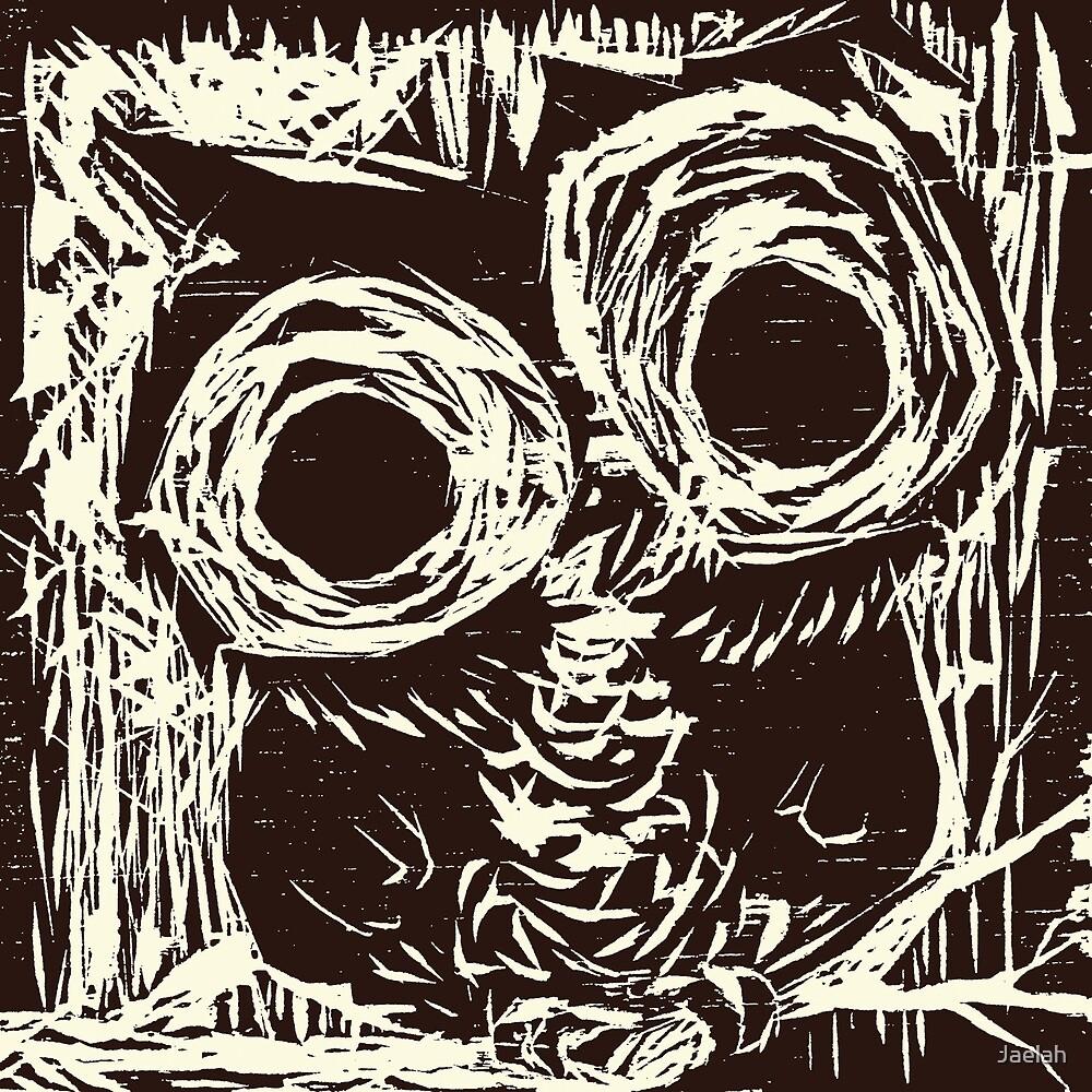 Owl Woodcut By Jaelah Redbubble