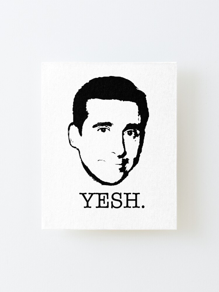 Michael Scott The Office Tv Show Yesh Black White Mounted Print
