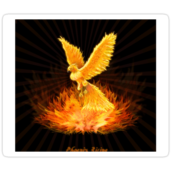 """Phoenix Rising"" stickers by Leah McNeir"