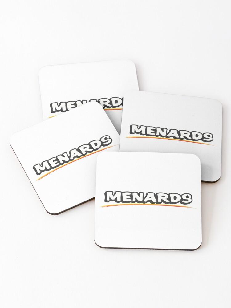 best seller menards logo merchandise coasters set of 4 by deankittel redbubble