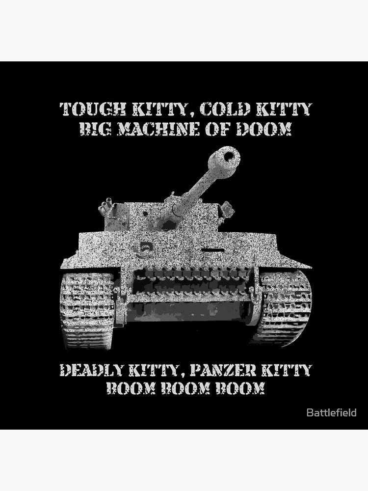 Tiger Panzer Tank Meme Gift Tough Kitty Cold Kitty Tote Bag By