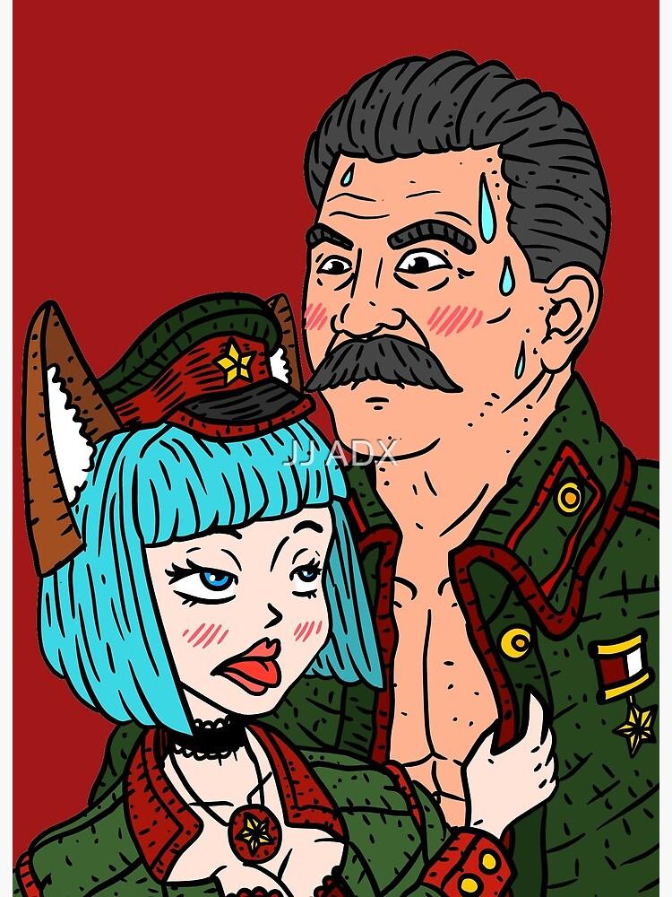 Stalin Anime Communist Cat Girl Funny Art Board Print By