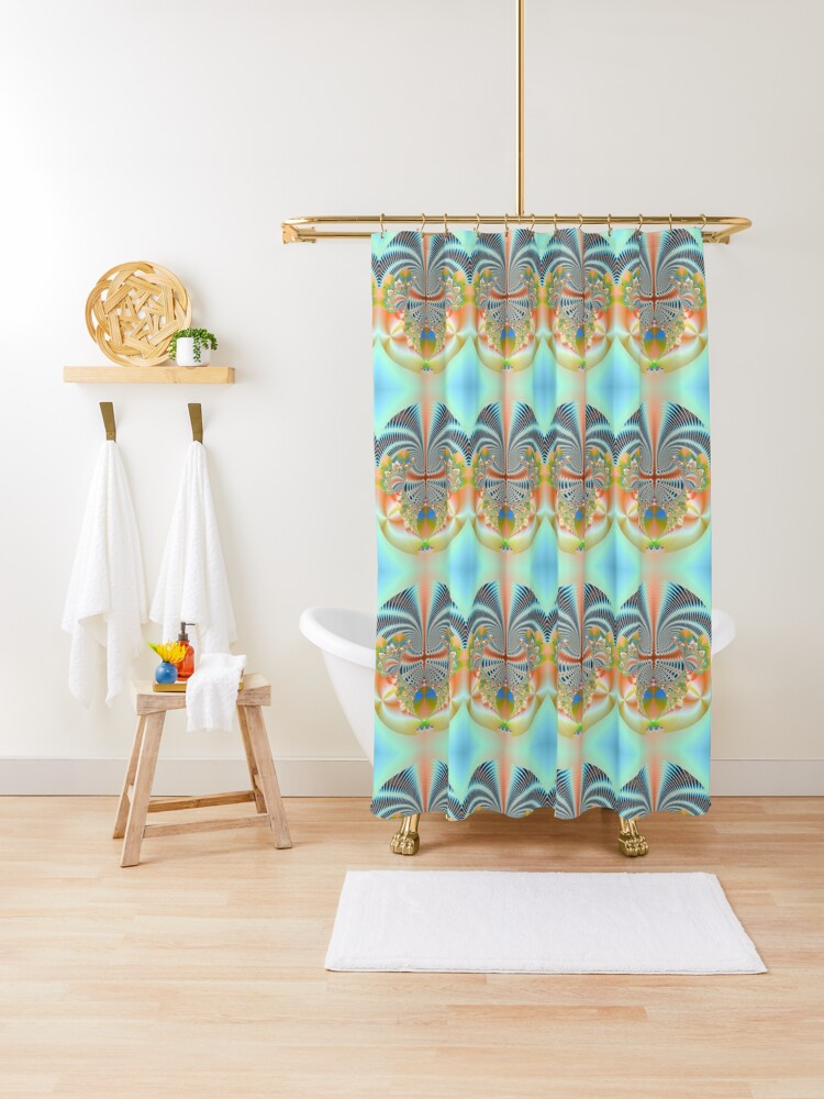 hippie circle shower curtain by rasah02 redbubble