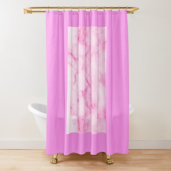 light pink marble shower curtain by newburyboutique redbubble