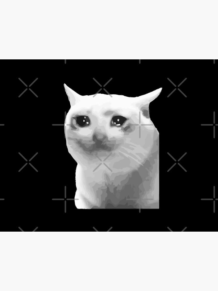 Crying Cat Meme Art Board Print By Xcxeon Redbubble