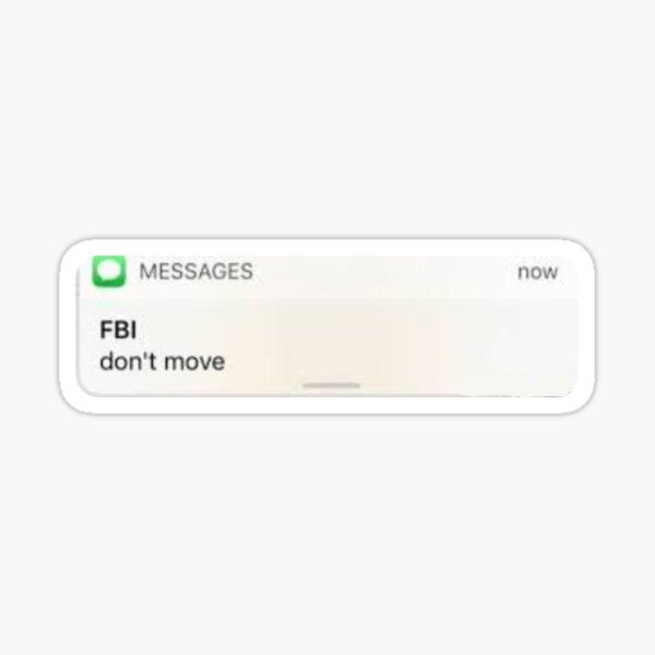 Fbi Text Stickers Redbubble
