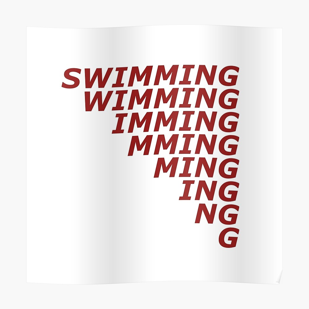 swimming mac miller poster by casmvn redbubble
