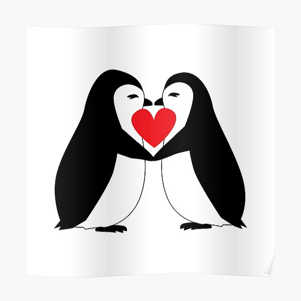 Rainbow Penguin Posters Redbubble