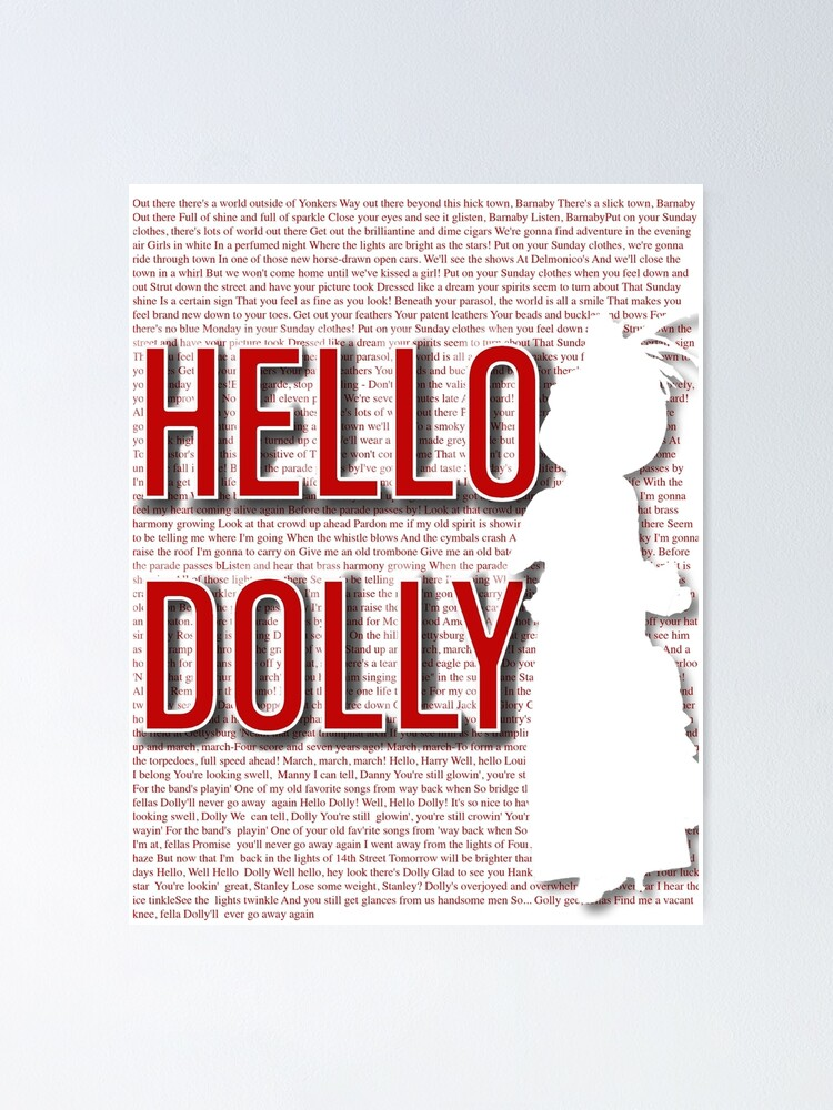 hello dolly poster by amea redbubble