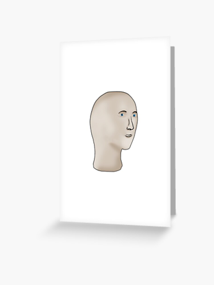 Meme Man Greeting Card By Barnyardy Redbubble