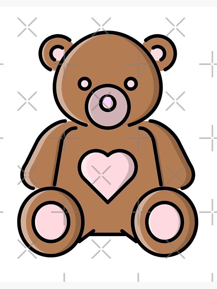 Teddy Bear Pink Heart Gift Present Love Funny Cute Cool Happy