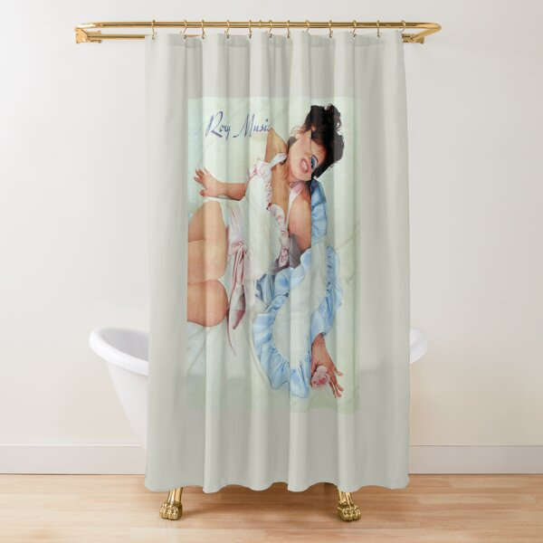 roxy music band shower curtain by colsmokie redbubble