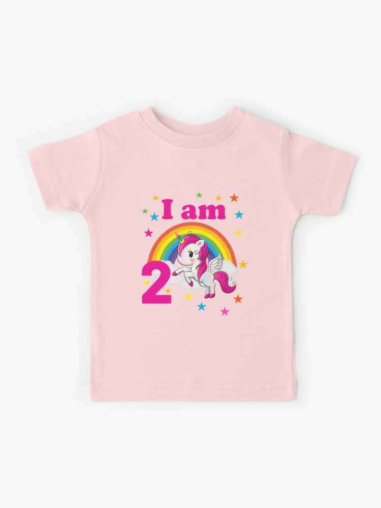 Copy Of I M 2 Unicorn Birthday 2 Year Old Birthday Boy T Shirt Gift Idea Second Birthday Girl Kids T Shirt By Jelisandie Redbubble