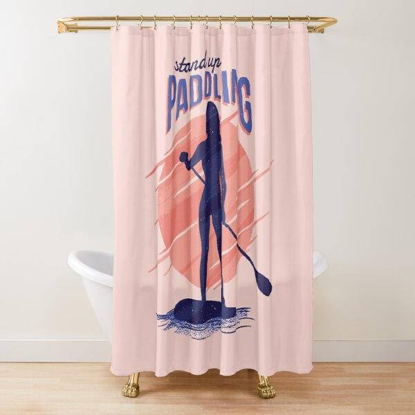 paddling shower curtains redbubble