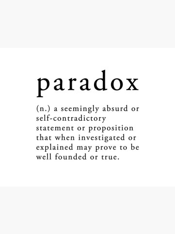 """Paradox Dictionary Definition"""" Art Board Print by Primly 