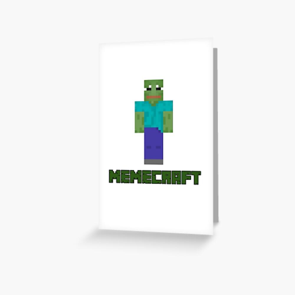 Minecraft Memecraft Rare Pepe Edition Greeting Card By