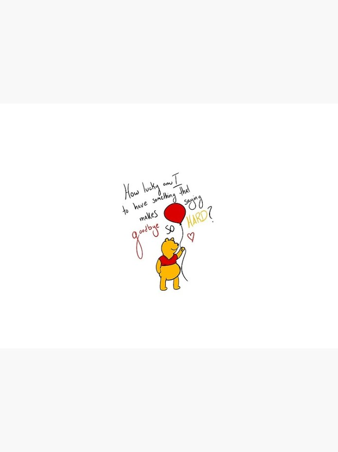 How Lucky Am I Winnie The Pooh Art Board Print By Roserox100 Redbubble