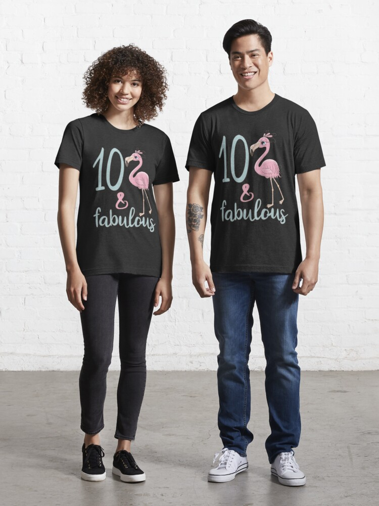 10th Bday Girl Outfit Cute 10 Year Old Flamingo Birthday Party Gift For Kids T Shirt By Stella1 Redbubble