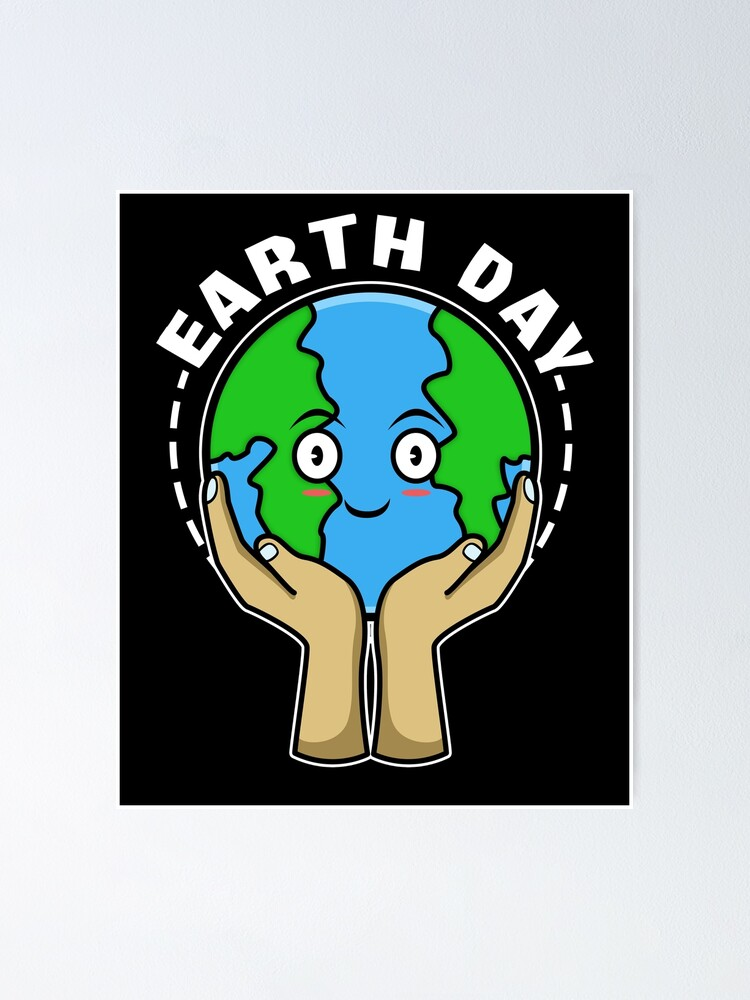 Earth Day Climate Change Save Earth Poster By Burnoutdesigns Redbubble