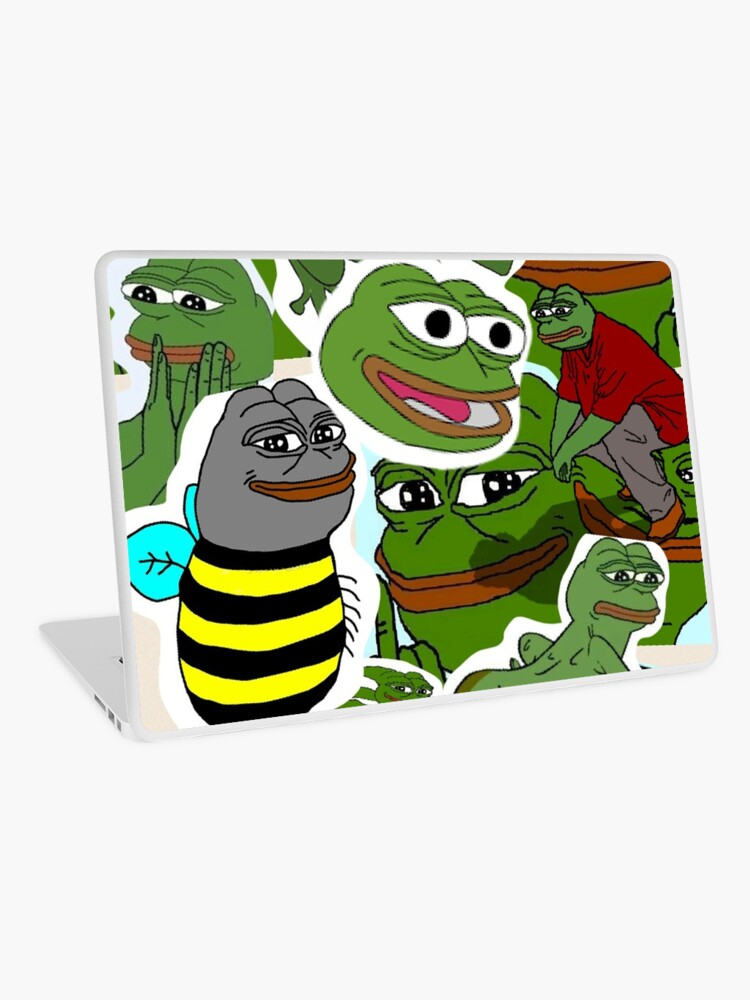 Pepe Meme Love Collage Laptop Skin By Mousmuse Redbubble