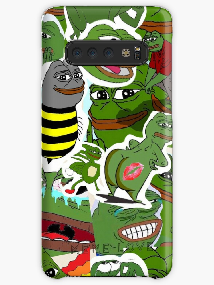 Pepe Meme Love Collage Case Skin For Samsung Galaxy By Mousmuse