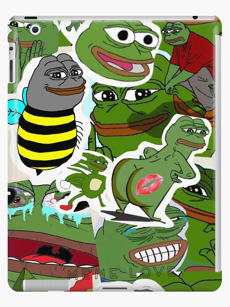 Pepe Meme Love Collage Ipad Case Skin By Mousmuse Redbubble
