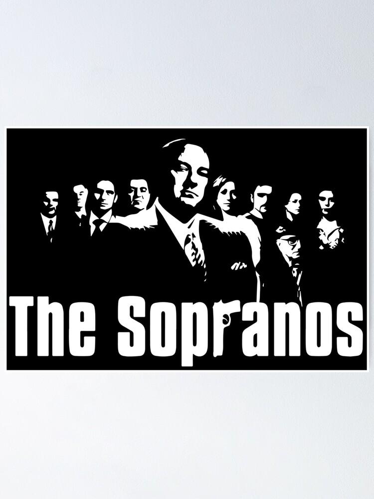 die sopranos poster von sparksgraphics redbubble