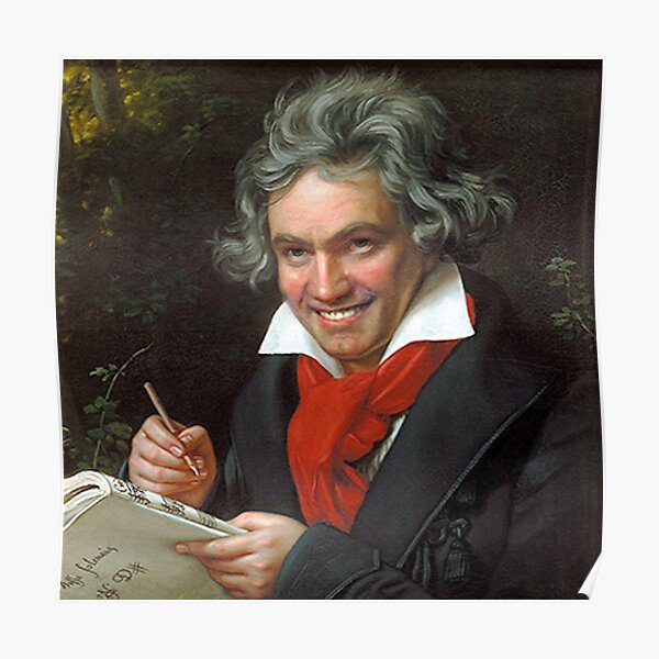 Beethoven Funny Posters Redbubble