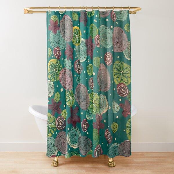 blue tones shower curtains redbubble