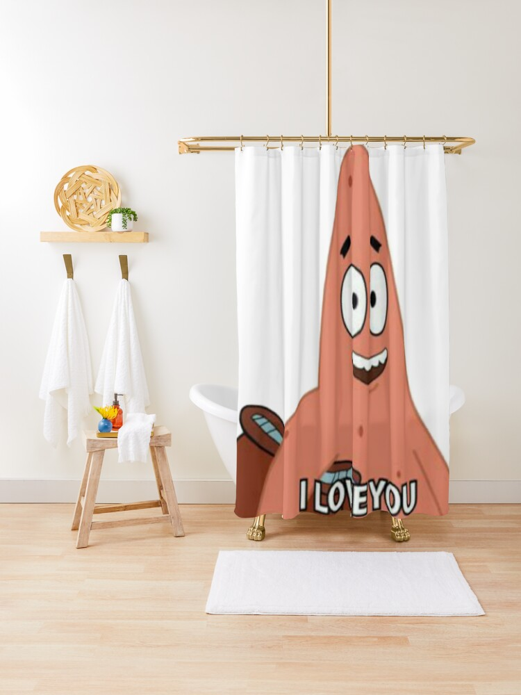 i love you patrick star shower curtain by luna7 redbubble