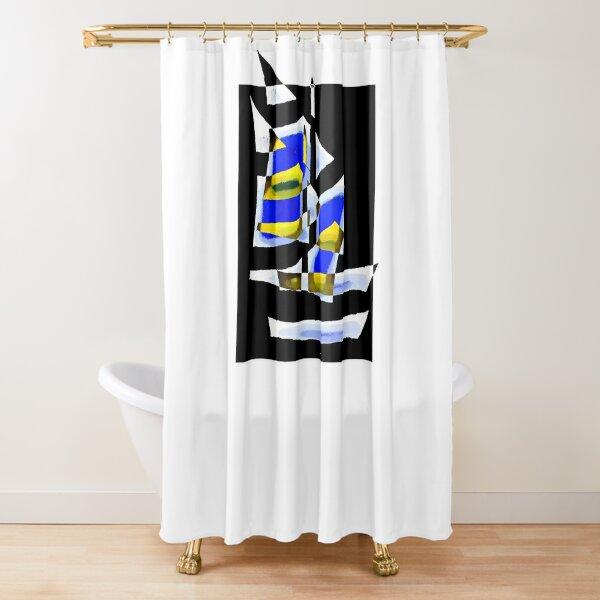 ship motive shower curtains redbubble