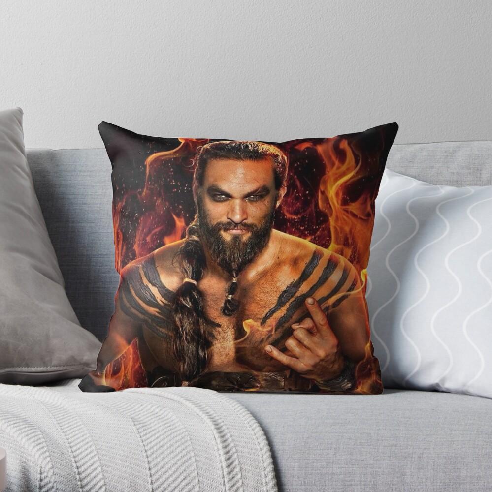 jason momoa throw pillow by zabaniah redbubble