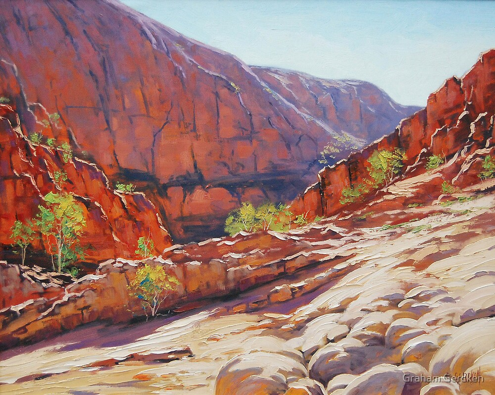 Orminston Gorge Alice Springs Central Australia By