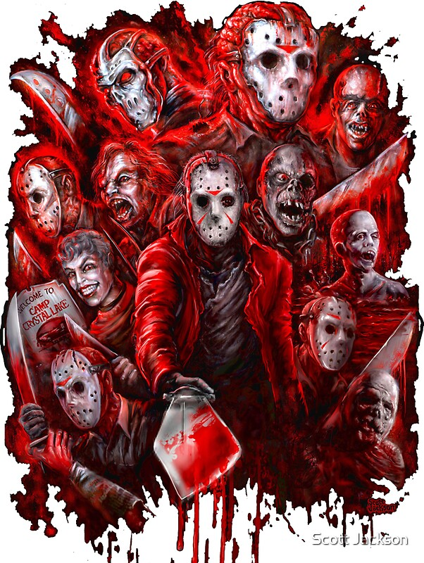 Jason Voorhees Many Faces Of Stickers By Scott Jackson
