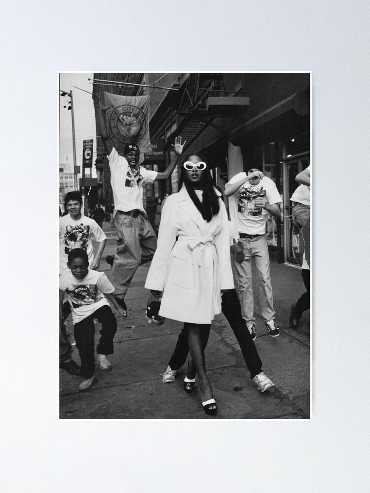 Poster Mode Urbaine Vintage Noir Et Blanc Par Freshfroot Redbubble