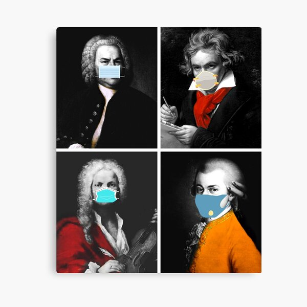 Beethoven Funny Wall Art Redbubble