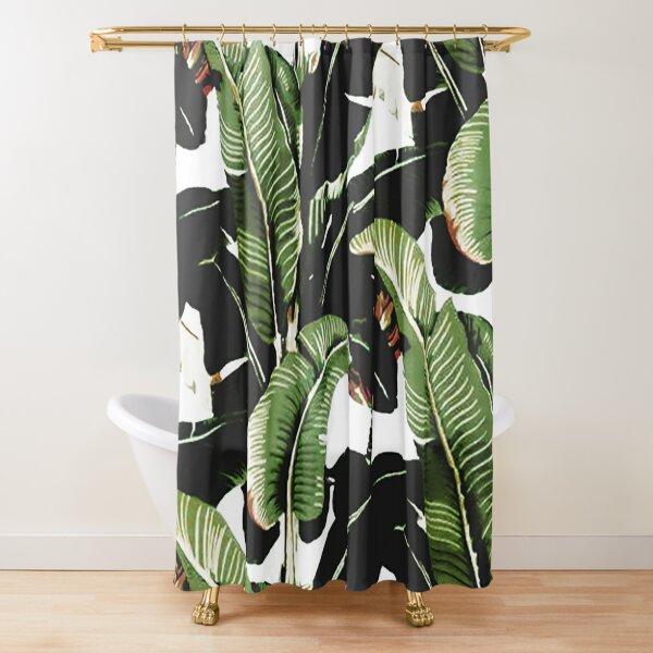 banana leaf shower curtains redbubble
