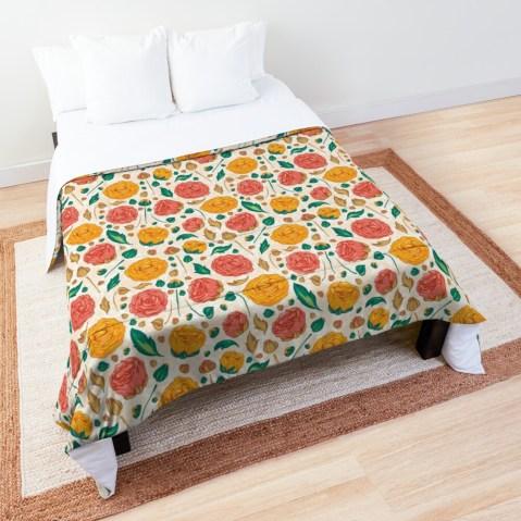 Floral pattern on Comforter