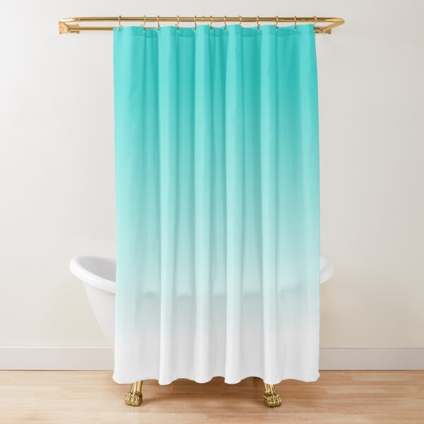 robin s egg blue ombre fading shower curtain by colorflowart redbubble