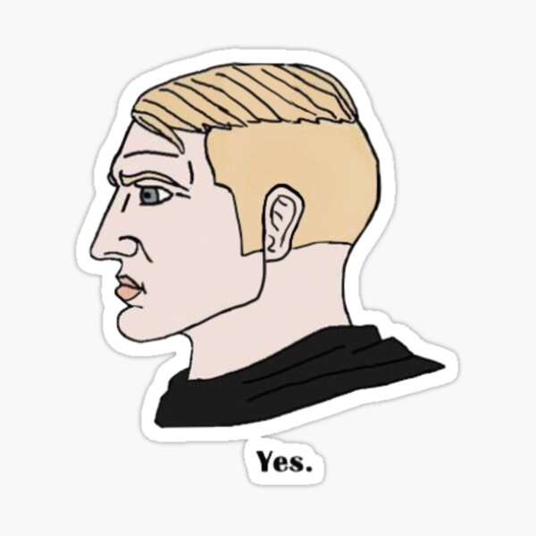 Chad Meme Stickers Redbubble