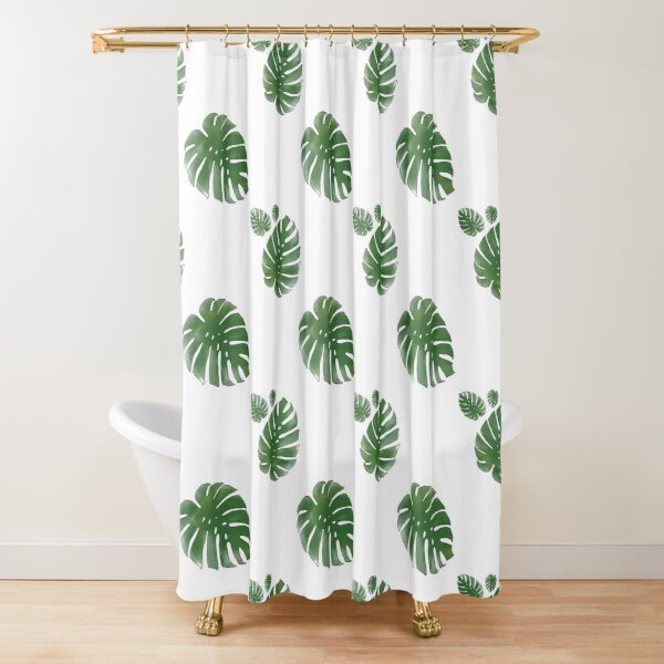 cheese plant shower curtains redbubble